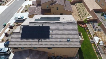 A house having completed the process of solar panel design and installation