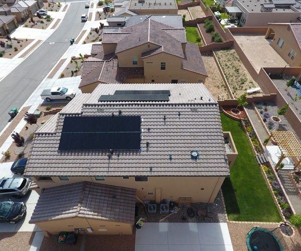 A home that took on the cost of having solar panels