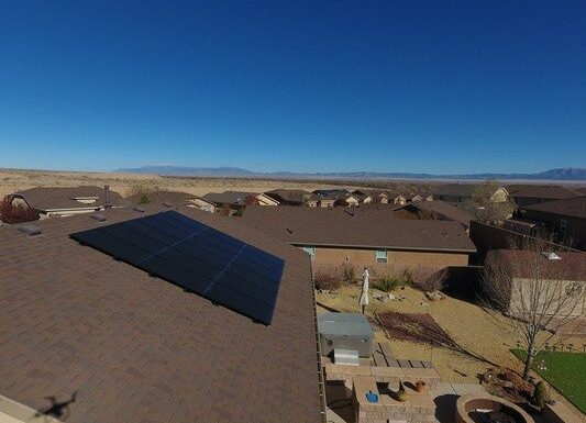 A house with solar panels from a New Mexico Solar Company