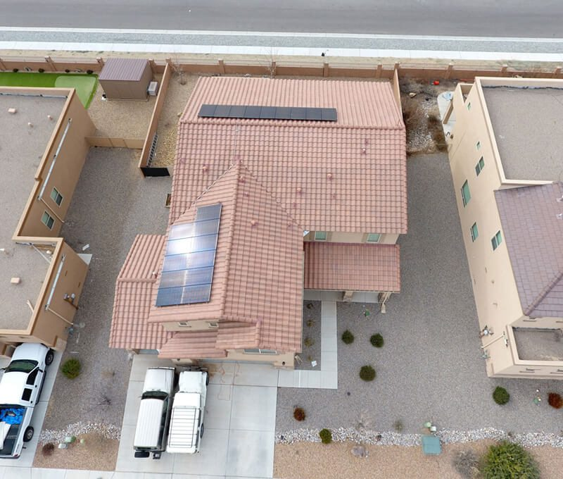A home in Albequerque that's using the New Mexico Solar incentives