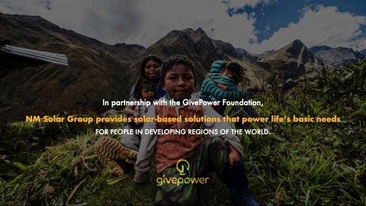 GivePower Partnership advertisement